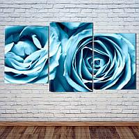 """Модульна картина """"Сині Троянди"""", фото 1"""