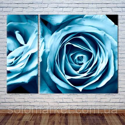 """Модульная картина """"Синие Розы"""", фото 2"""