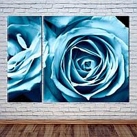 """Модульная картина """"Синие Розы"""", фото 1"""