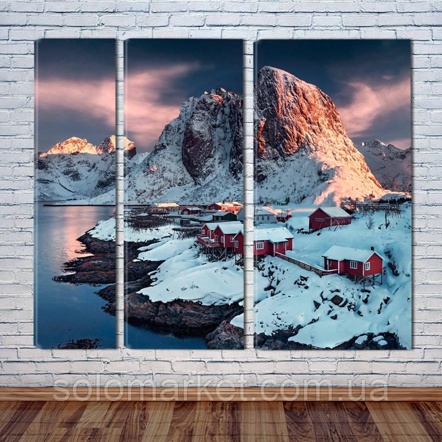 """Модульна картина """"Скандинавські гори"""""""