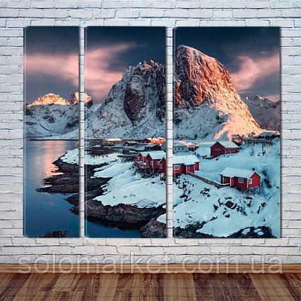 """Модульна картина """"Скандинавські гори"""", фото 2"""