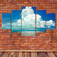 """Модульная картина """"Облака над океаном"""", фото 1"""