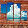 """Модульна картина """"Хмари над океаном"""""""