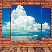 """Модульна картина """"Хмари над океаном"""", фото 1"""