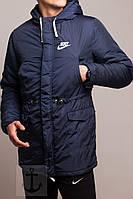 Зимняя парка Найк / куртка Nike тёмно - синяя