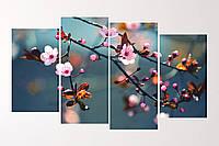 """Модульна картина """"Сакура"""", фото 1"""