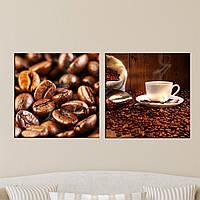 """Модульная картина """"Кофе"""", фото 1"""