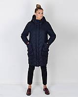 Женская зимняя куртка -кокон  44-52рр слива