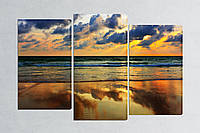 Модульная картина Закат у моря, фото 1