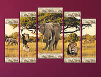 "Модульна картина ""Африканкий слон"", фото 1"