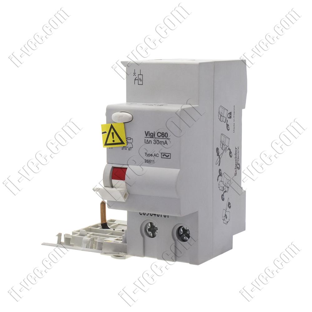 Блок дифференциальный защиты 26611BA Multi9 Vigi C60 2P 63A 30мА AC