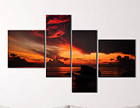 "Модульная картина ""Закат над океаном"", фото 1"