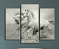 """Модульна картина """"Вільні коні"""", фото 1"""