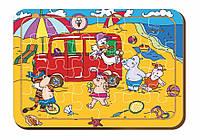 Деревянный паззл, 24 детали «Фургон мороженого»