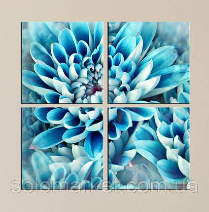 "Модульна картина ""Блакитна квітка"", фото 2"