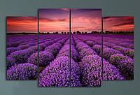 """Модульна картина """"Квіткові поля"""", фото 1"""