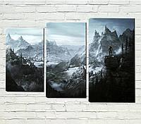 """Модульная картина """"Фэнтези горы"""", фото 1"""