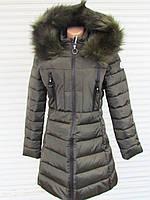 Зимняя Женская   Куртка с искусственным мехом   12-30
