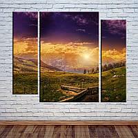 """Модульная картина """"Закат в горах"""", фото 1"""