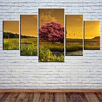 """Модульная картина """"Сказочное дерево"""", фото 1"""
