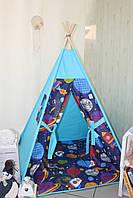 """Детский игровой домик, вигвам, палатка, шатер, шалаш, вігвам, дитячий будинок, палатка """"Планеты"""""""