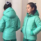 Детская зимняя куртка для девочки на синтепоне, фото 2