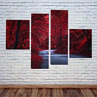 """Модульна картина """"Казковий ліс"""", фото 1"""