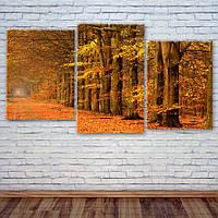 """Модульна картина """"Золота осінь"""", фото 1"""