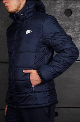 Мужская демисезонная куртка (осень-зима) в стиле Nike (S, M, L, XL размеры), фото 2