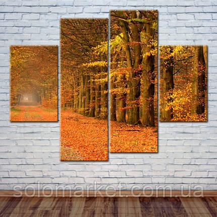 """Модульна картина """"Золота осінь"""", фото 2"""