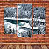 """Модульная картина """"Озеро в горах, Швейцария"""""""