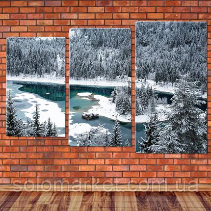 """Модульная картина """"Озеро в горах, Швейцария"""", фото 2"""