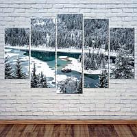 """Модульная картина """"Озеро в горах, Швейцария"""", фото 1"""