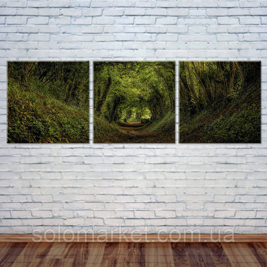 "Модульна картина ""Лісова стежка"""