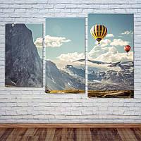 """Модульная картина """"Воздушные шары"""", фото 1"""