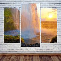 """Модульна картина """"Під водоспадом"""", фото 1"""