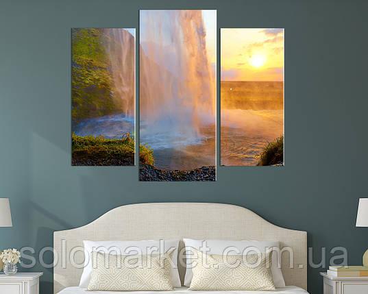 """Модульна картина """"Під водоспадом"""", фото 2"""