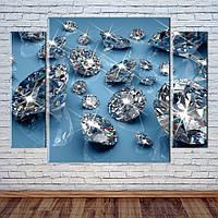"""Модульна картина """"Діаманти"""", фото 1"""