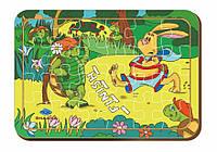 Деревянный паззл, 24 детали «Бегуны»