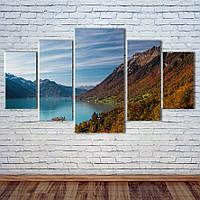 """Модульная картина """"Озеро в горах"""", фото 1"""