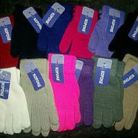 Детские перчатки однотонные от 3 до 5 лет