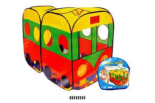 Палатка большая детская игровая Автобус 8027 размер 140х73х196
