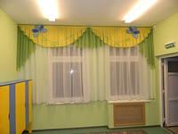 """Комплект штор """"Незабудка"""" для детских садов, школ, детских лагерей, санаториев"""