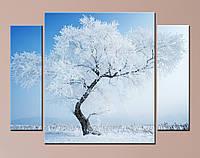 """Модульна картина """"Засніжене дерево"""", фото 1"""