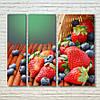 """Модульна картина """"Літні ягоди"""""""