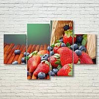 """Модульная картина """"Летние ягоды"""", фото 1"""