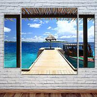 Модульная картина Остров в океане, фото 1