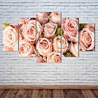 """Модульная картина """"Букет роз"""", фото 1"""