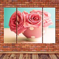 """Модульна картина """"Троянди"""", фото 1"""