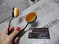 Кисть щётка для тонального крема и консилера (широкая щетина)